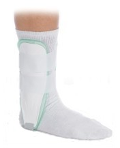 ankle brace with ice