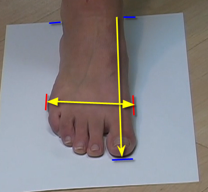 measuring foot size