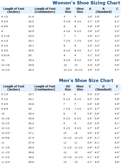 How Many Inces Is A Men S Size  Shoe